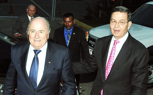 The former President of Honduras was arrested because of the corruption in FIFA