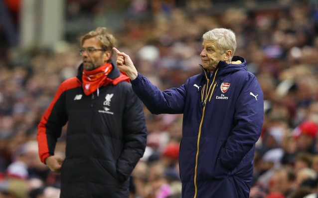 Wenger: 'I told Klopp to calm down.'