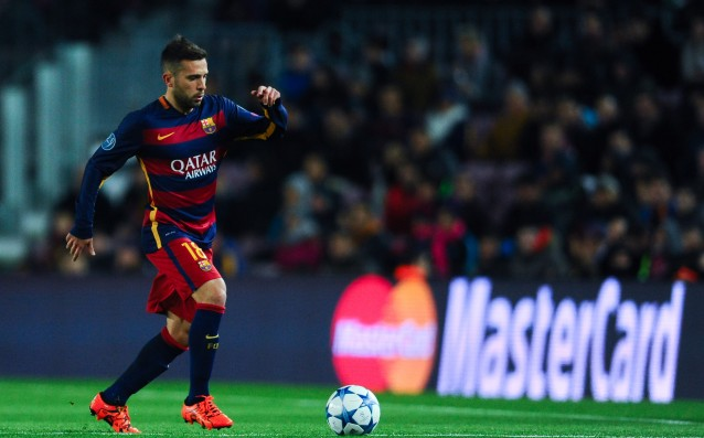 Jordi Alba will miss the next two matches of Barca