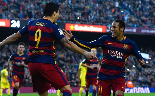 Neymar to Suarez: 'Happy birthday, fatty!'