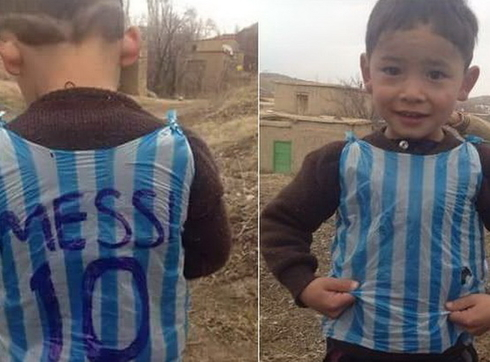 Messi will make the dream of a 5-year-old boy from Afghanistan true