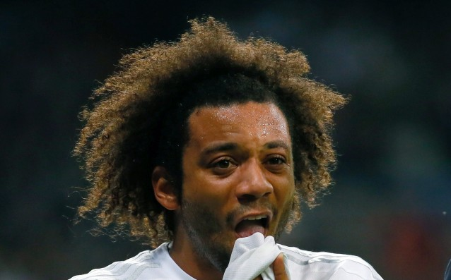 Marcelo is with a dislocated shoulder, he will be out for three weeks