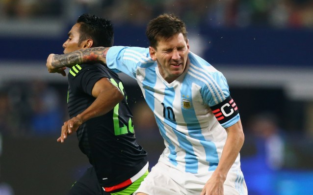 Leo Messi reached Diego Simeone in terms of matches for Argentina
