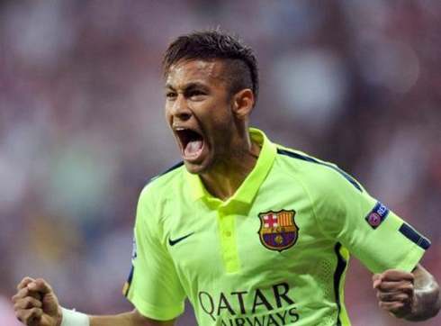Neymar was again voted the best Brazilian in Europe