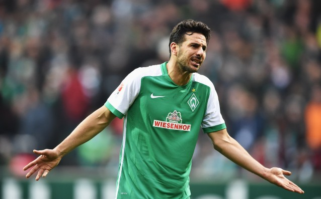 Werder without Pizarro against Borussia Dortmund