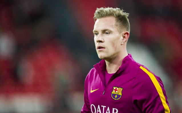 Ter Stegen is into the group of Barca for Celtic
