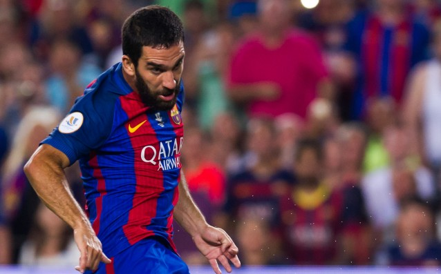 Arda Turan with an ankle injury