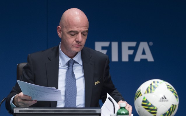 The boss of FIFA called for zero tolerance to pedophilia in football