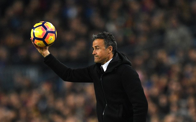 Luis Enrique wishes his team to play against Celta Vigo