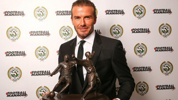 David Beckham took an award for an outstanding contribution to football