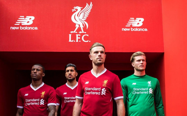 Liverpool presented their new t-shirts