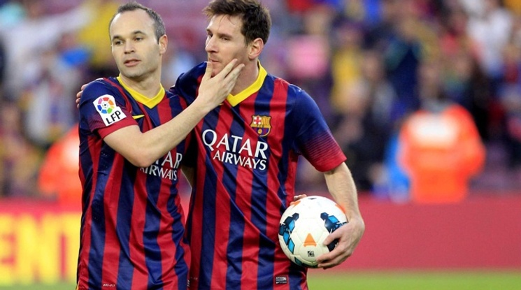 Both Messi and Iniesta have won 30 trophies so far
