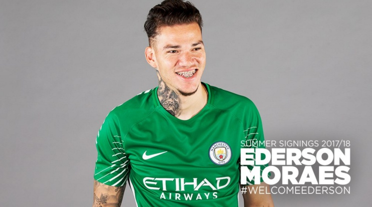 Ederson joined Manchester City