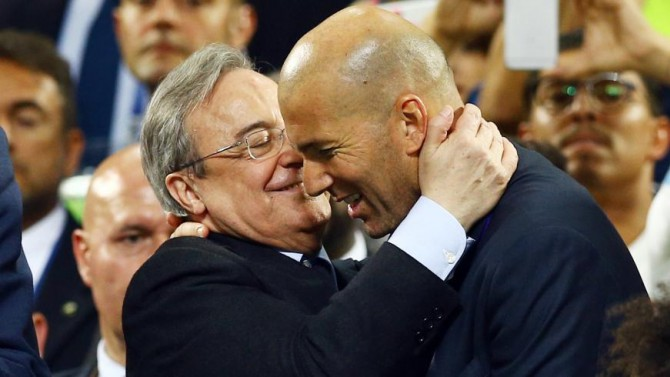 Perez is ready to offer Zidane a lifetime contract