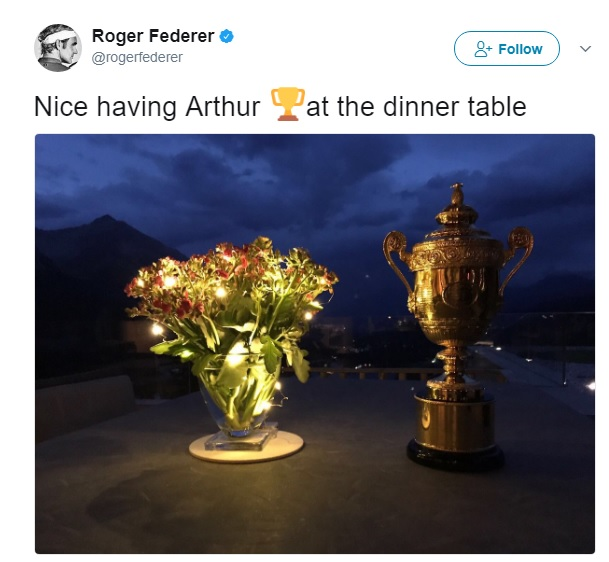 Federer has given a name to his Wimbledon trophy