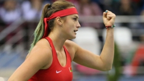 Belarus equalized the score against the United States in the Fed Cup final