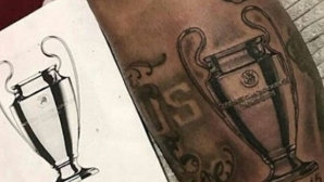 Neymar tattooed his trophy in the Champions League