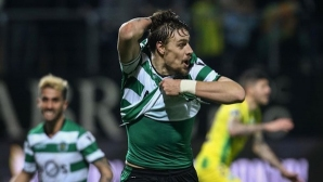 Sporting rejoiced after a goal in the 99th minute