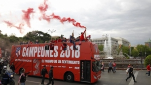 Atletico Madrid celebrated the title in Europa League with a parade