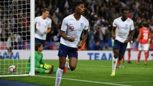 Marcus Rashford returned the smiles in England