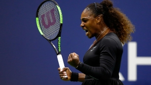 Serena, Vinus and champion Stevens qualified for the second round