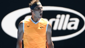 Nadal easily won his first official game since September