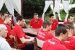 Voleynatsionalite will delight children for hours before the crucial match with Russia
